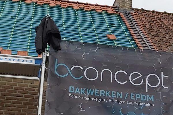 Bconcept dakwerken en logo