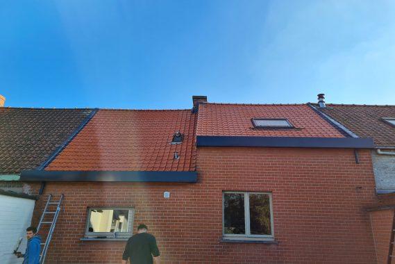 Dakwerker bedrijf B-concept uit Heule doet project in eigen gemeente 1